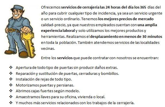 Servicios cerrajeros en Bimenes 24 horas urgencias
